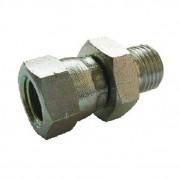 Male x Swivel F BSPP x Metric M1.5 Pitch Hydraulic Adaptor