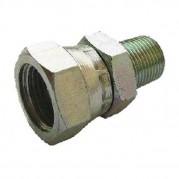 Male x Swivel F BSPT x BSPP Hydraulic Adaptor