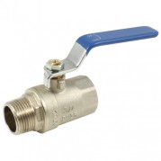 Blue Steel Long Handle Ball Valve - Male x Female BSPP