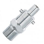 BSPT Male Instant Air Fixed Adaptors - Steel