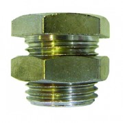 Male Metric / BSPP Female Bulkhead Connector - Nickel Plated