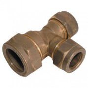 Brass Compression Reducing Main Tee