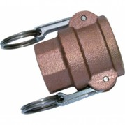 Female Lever Coupling - Brass Cam & Groove