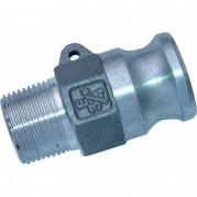 Male Plug - Aluminium Cam & Groove