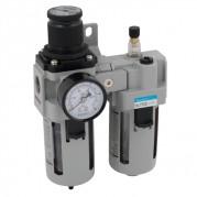 Filter / Regulator + Lubricator - Professional Range Mark 2 - Semi Auto Drain
