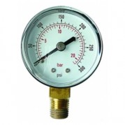 "Pressure Gauge - 1/4"" BSPT x 50mm Dial - Bottom Entry Connection"