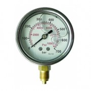 Glycerine Gauges - Stainless Steel Case - Bottom Entry Connection