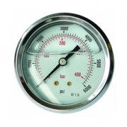 Glycerine Gauges - Stainless Steel Case - Centre Back Connection