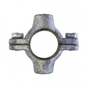 Double M10 Tapping Pipe Ring - Galvanised