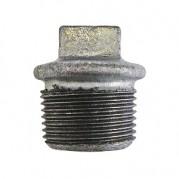 BSPT Beaded Hollow Plug - Galvanised