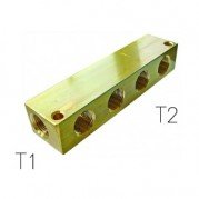 Un-equal Manifold Block - Brass