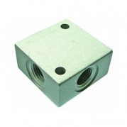 BSPP Female Manifold / Block Cross - Alumnium