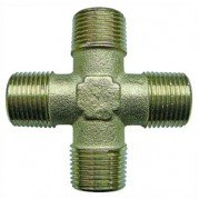 Male Equal Cross - Nickel Plated