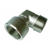 BSPT Male / BSPP Female Equal Elbow - Nickel Plated