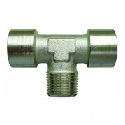 F/F/M Centre Leg Equal Tee - Nickel Plated