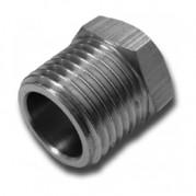 BSPT Hexagonal Plug - Hollow - Nickel Plated