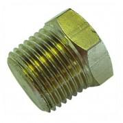 BSPT Hexagonal Plug - Solid - Nickel Plated
