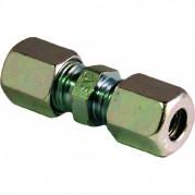 6mm Tube O/D Straight Coupling - Steel