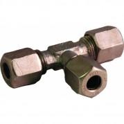 6mm Tube O/D Tee Connector - Steel