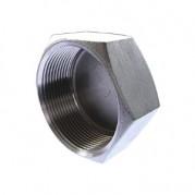 BSPP Cap Female Plug - 316 Stainless Steel