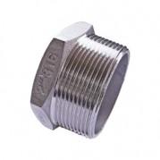 BSPT Hexagon Plug - 316 Stainless Steel