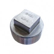 BSPT Square Headed Plug - 316 Stainless Steel